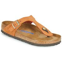 Shoes Women Flip flops Birkenstock GIZEH SFB Orange