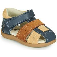 Shoes Boy Sandals Citrouille et Compagnie OLOSS Blue / Brown