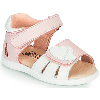 Shoes Girl Sandals Citrouille et Compagnie OLESS Pink / White
