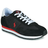 Shoes Men Low top trainers Polo Ralph Lauren TRAIN 85-SNEAKERS-ATHLETIC SHOE Black / Red