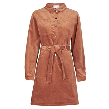 material Women Short Dresses Betty London NOULETTE Rust