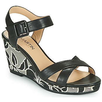 Shoes Girl Sandals JB Martin QUERIDA Black / Grey