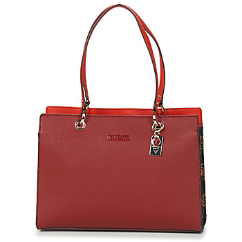 Bags Women Shoulder bags Guess ISLA ELITE CARRYALL Red / Multicolour
