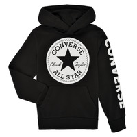 material Boy sweaters Converse SIGNATURE CHUCK PATCH HOODIE Black
