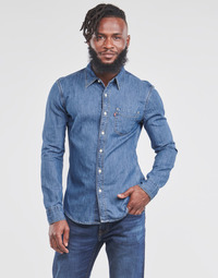 material Men long-sleeved shirts Levi's SUNSET 1 PKT SLIM Blue
