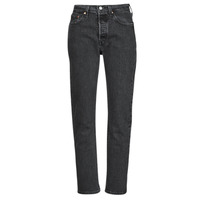material Women Boyfriend jeans Levi's 501 CROP Black