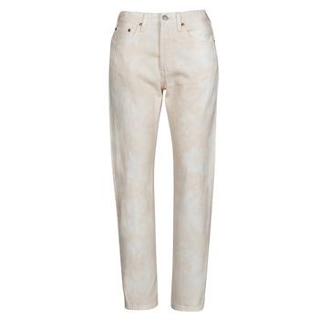 material Women Boyfriend jeans Levi's 501 CROP Peach