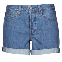 material Women Shorts / Bermudas Levi's 501 ROLLED SHORT Blue