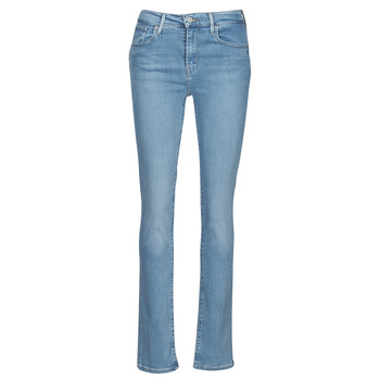 material Women straight jeans Levi's 724 HIGH RISE STRAIGHT Blue