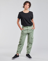 material Women Cargo trousers  Levi's LOOSE CARGO Grey / Green