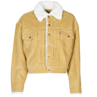 material Women Denim jackets Levi's NEW HERITAGE CORD TRUCKR Beige