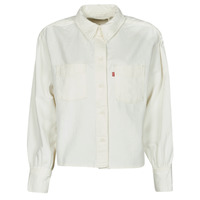 material Women Shirts Levi's ZOEY PLEAT UTILITY SHIRT White