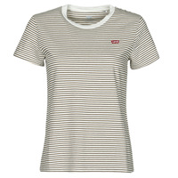 material Women short-sleeved t-shirts Levi's PERFECT TEE Beige