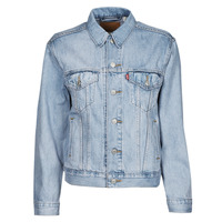material Women Denim jackets Levi's EX BOYFRIEND TRUCKER Wheat
