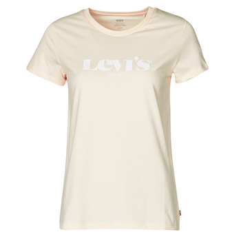 material Women short-sleeved t-shirts Levi's THE PERFECT TEE Beige