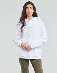 material Women sweaters Levi's GRAPHIC RIDER HOODIE White