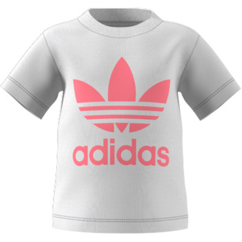 material Children short-sleeved t-shirts adidas Originals GN8175 White