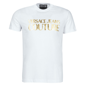material Men short-sleeved t-shirts Versace Jeans Couture TIKI White / Gold