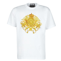 material Men short-sleeved t-shirts Versace Jeans Couture TIKI White