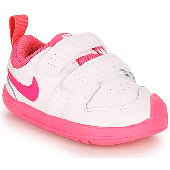 Shoes Girl Low top trainers Nike Pico 5 TD White / Pink