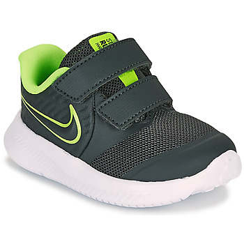 Shoes Boy Multisport shoes Nike STAR RUNNER 2 TD Black / Green