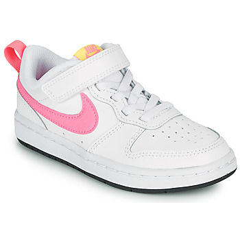 Shoes Girl Low top trainers Nike COURT BOROUGH LOW 2 PS White / Pink
