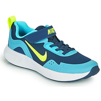 Shoes Boy Multisport shoes Nike WEARALLDAY PS Blue / Green