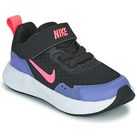 Shoes Girl Multisport shoes Nike WEARALLDAY TD Black / Blue
