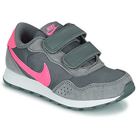 Shoes Girl Low top trainers Nike MD VALIANT PS Grey / Pink