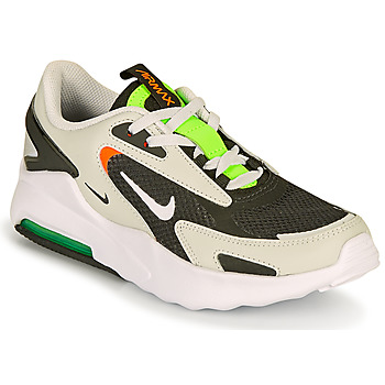Shoes Boy Low top trainers Nike AIR MAX BOLT GS Black / Grey / Green