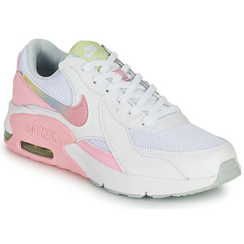 Shoes Girl Low top trainers Nike AIR MAX EXCEE GS White / Pink