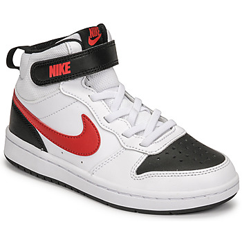 Shoes Boy Low top trainers Nike NIKE COURT BOROUGH MID 2 White / Red / Black