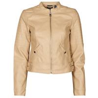 material Women Leather jackets / Imitation leather Vero Moda VMLOVE Beige