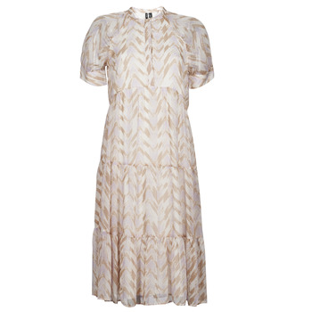 material Women Long Dresses Vero Moda VMKATHRINE Beige