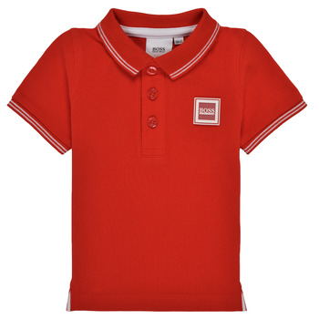 material Boy short-sleeved polo shirts BOSS ANILOA Red