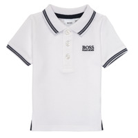 material Boy short-sleeved polo shirts BOSS NICOLA White