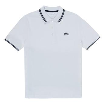 material Boy short-sleeved polo shirts BOSS TONNELA White