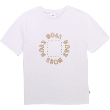 material Boy short-sleeved t-shirts BOSS TINNOE White