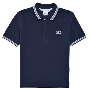 material Boy short-sleeved polo shirts BOSS TONNELA Marine