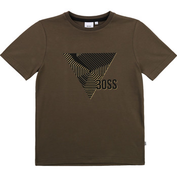 material Boy short-sleeved t-shirts BOSS SIMEO Kaki