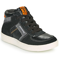 Shoes Boy High top trainers Redskins LAVAL KID Black / Anthracite