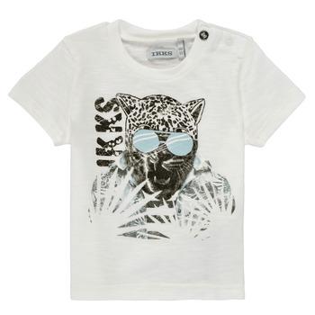 material Boy short-sleeved t-shirts Ikks XS10161-19 White