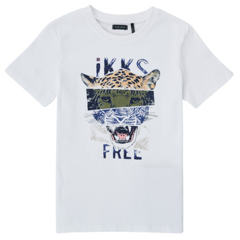 material Boy short-sleeved t-shirts Ikks XS10233-01-C White