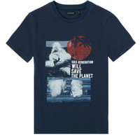 material Boy short-sleeved t-shirts Ikks XS10013-48-C Marine