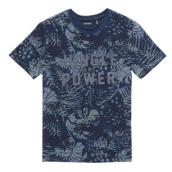 material Boy short-sleeved t-shirts Ikks XS10153-46-C Marine