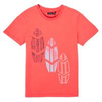 material Boy short-sleeved t-shirts Ikks XS10043-79-J Red
