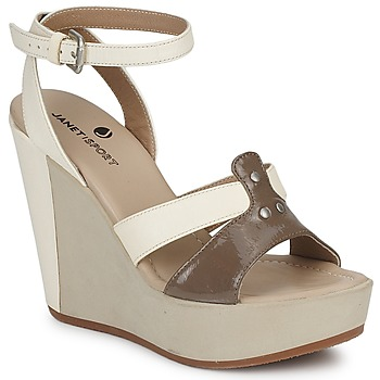 Shoes Women Sandals Janet Sport FANNY GISELE White / TAUPE