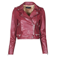material Women Leather jackets / Imitation leather Oakwood KYOTO Bordeaux