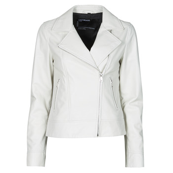 material Women Leather jackets / Imitation leather Oakwood MARJORY White