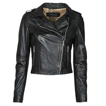 material Women Leather jackets / Imitation leather Oakwood ALIZEE Black